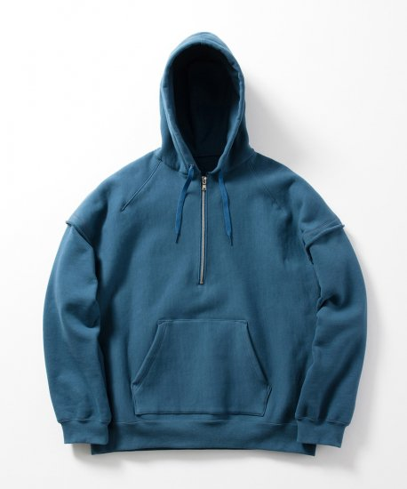 Name.  ネーム / スウェット HALF ZIP HOODED SWEATER 【NAVY】