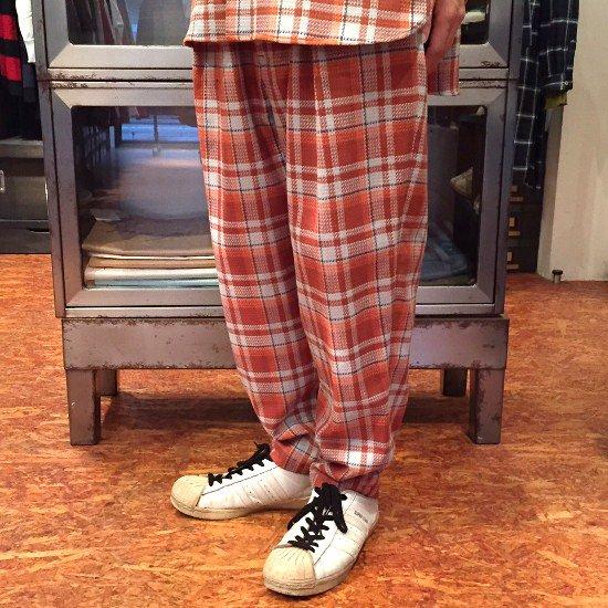 Name.  ネーム / パンツ  PLAID COTTON DRAWSTRING PANTS 【ORANGE】