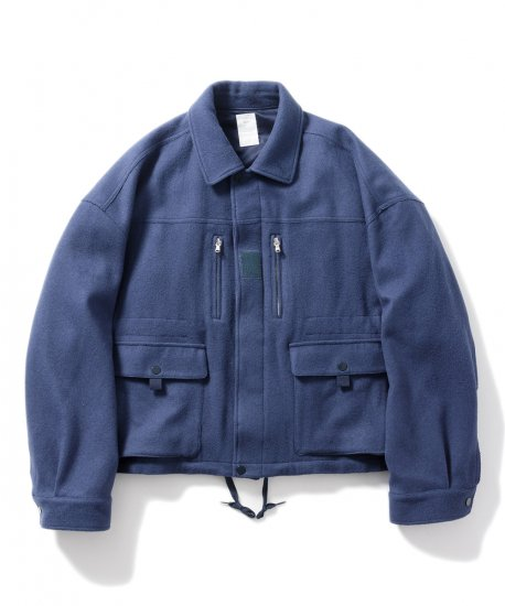 Name.  ネーム / ジャケット WOOL MELTON F2 TYPE OVERSIZED JACKET 【BLUE】