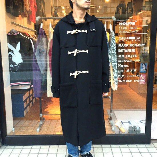 Name.  ネーム / コート  WOOL MELTON DUFFLE COAT 【BLACK】