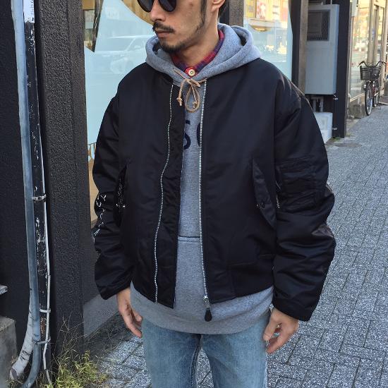 <img class='new_mark_img1' src='https://img.shop-pro.jp/img/new/icons3.gif' style='border:none;display:inline;margin:0px;padding:0px;width:auto;' />Black weirdos  ブラック ウィドー / ジャケット MA-1 jacket 【BLACK】