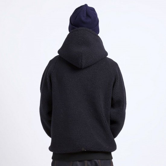 CHARI&CO. チャリ アンド コー/ パーカ  LEATHER TAG FLEECE HOODIE 【BLACK】