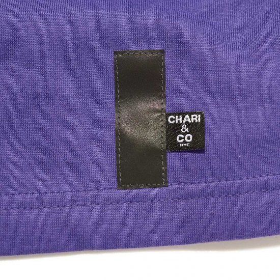 <img class='new_mark_img1' src='//img.shop-pro.jp/img/new/icons3.gif' style='border:none;display:inline;margin:0px;padding:0px;width:auto;' />CHARI&CO. ロングTシャツ / チャリ アンド コー × SNEAKER WOLF CCC LOGO L/S TEE 【PURPLE】