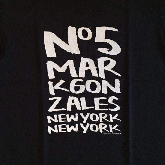 <img class='new_mark_img1' src='https://img.shop-pro.jp/img/new/icons3.gif' style='border:none;display:inline;margin:0px;padding:0px;width:auto;' />Mark Gonzales マークゴンザレス / イラスト Tシャツ 【BLACK】