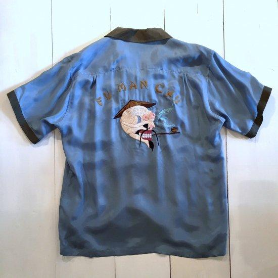 <img class='new_mark_img1' src='https://img.shop-pro.jp/img/new/icons3.gif' style='border:none;display:inline;margin:0px;padding:0px;width:auto;' />Black weirdos  ブラック ウィドー / 半袖シャツ Weirdos Bowling Shirt 【BLUE】