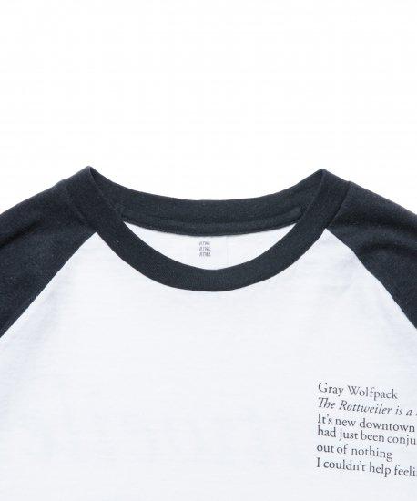 【7月末入荷予定】ROTTWEILER ロットワイラー / ラグランTシャツ  ROSE 3/4 TEE 【BLACK & WHTE】
