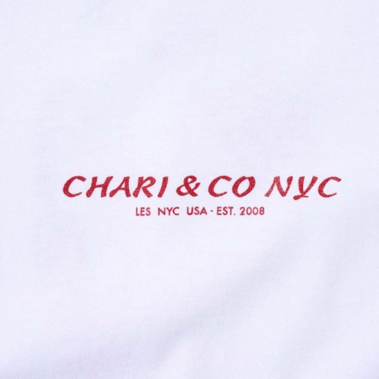 <img class='new_mark_img1' src='https://img.shop-pro.jp/img/new/icons3.gif' style='border:none;display:inline;margin:0px;padding:0px;width:auto;' />CHARI&CO. Tシャツ / チャリ アンド コー CHINA SPICE TEE  【WHITE】