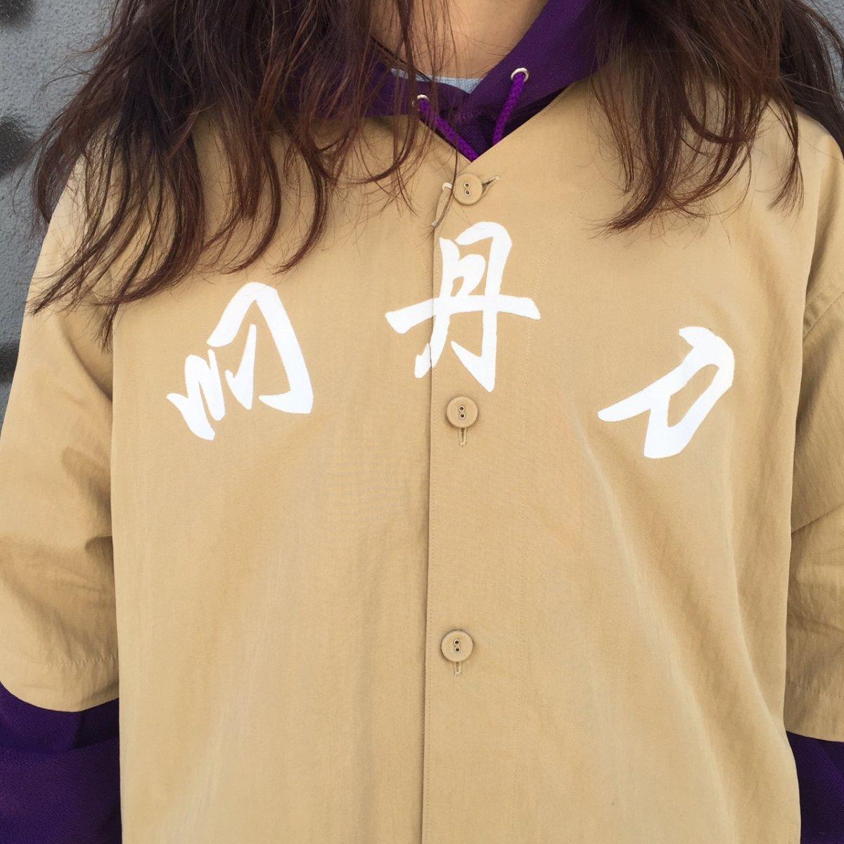 <img class='new_mark_img1' src='https://img.shop-pro.jp/img/new/icons24.gif' style='border:none;display:inline;margin:0px;padding:0px;width:auto;' />【SALE / 30%OFF】Black weirdos  ブラック ウィドー / シャツ Baseball Shirt 【BEIGE】