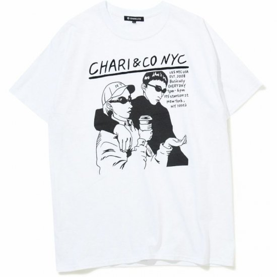 <img class='new_mark_img1' src='https://img.shop-pro.jp/img/new/icons3.gif' style='border:none;display:inline;margin:0px;padding:0px;width:auto;' />CHARI & CO. Tシャツ / チャリ アンド コー NOISE PUNK TEE   【WHITE】