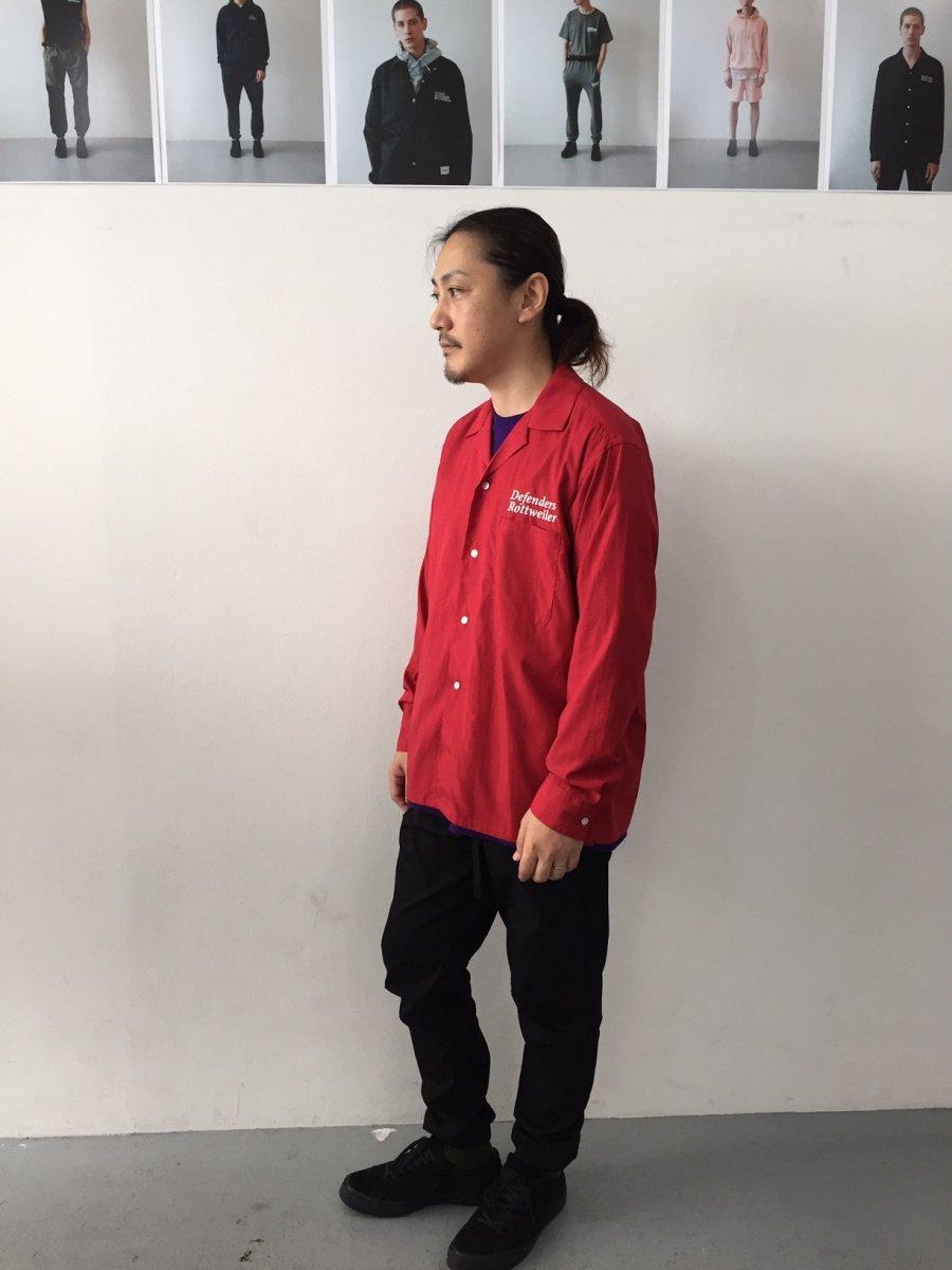 【3月入荷予定】ROTTWEILER ロットワイラー / シャツ  OPEN COLLAR LS SHIRTS 【RED】