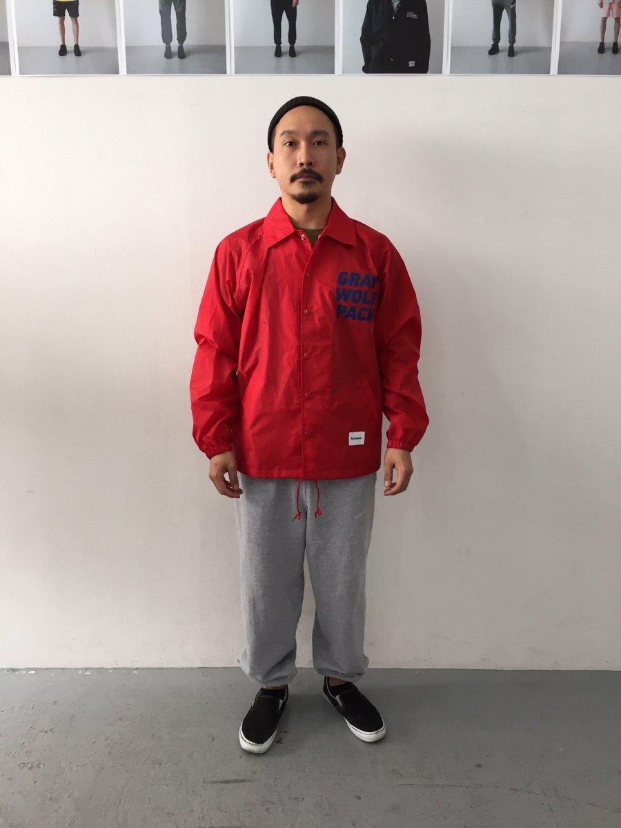 【2月入荷予定】ROTTWEILER ロットワイラー / ジャケット  GRAYWOLF PACK COACH JACKET 【RED】