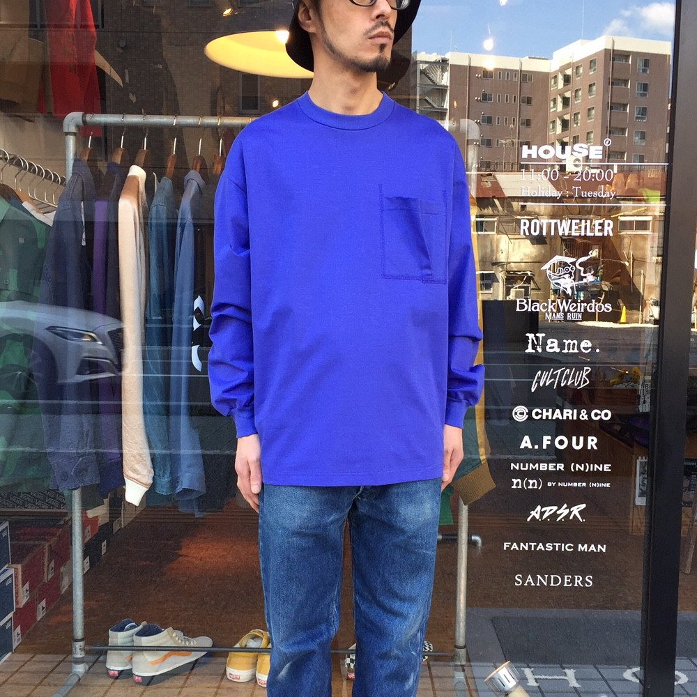 <img class='new_mark_img1' src='https://img.shop-pro.jp/img/new/icons3.gif' style='border:none;display:inline;margin:0px;padding:0px;width:auto;' />Name.  ネーム / ロングTシャツ LONG SLEEVE TEE 【BLUE】
