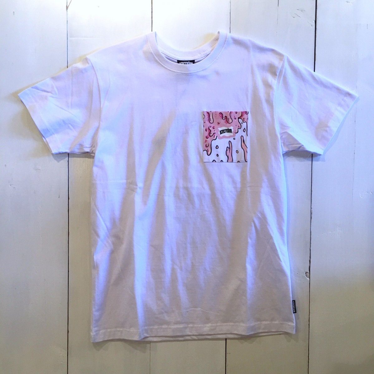 <img class='new_mark_img1' src='//img.shop-pro.jp/img/new/icons3.gif' style='border:none;display:inline;margin:0px;padding:0px;width:auto;' />ICE CREAM アイスクリーム / Tシャツ THOMAS POCKET T-SHIRTS 【WHITE】