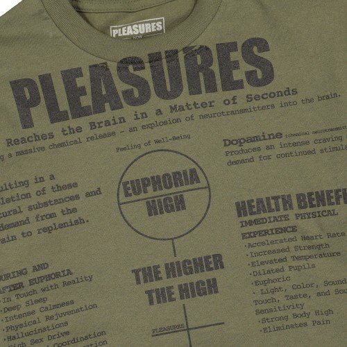 <img class='new_mark_img1' src='//img.shop-pro.jp/img/new/icons3.gif' style='border:none;display:inline;margin:0px;padding:0px;width:auto;' />PLEASURES プレジャーズ / Tシャツ HIGHER T-SHIRT