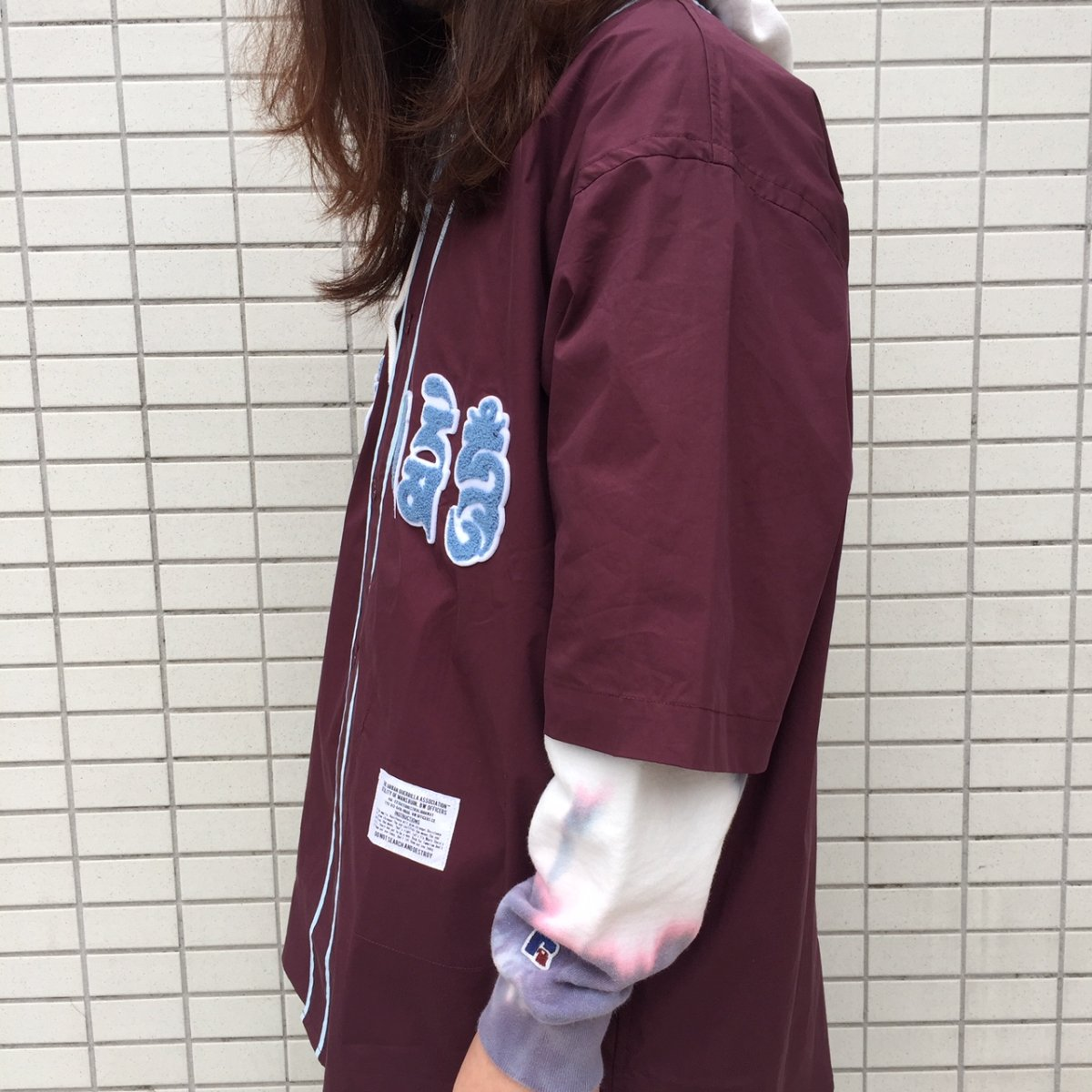 <img class='new_mark_img1' src='https://img.shop-pro.jp/img/new/icons24.gif' style='border:none;display:inline;margin:0px;padding:0px;width:auto;' />【SALE / 30%OFF】Black weirdos  ブラック ウィドー / シャツ Mantra Baseball Shirt 【D・PURPLE】