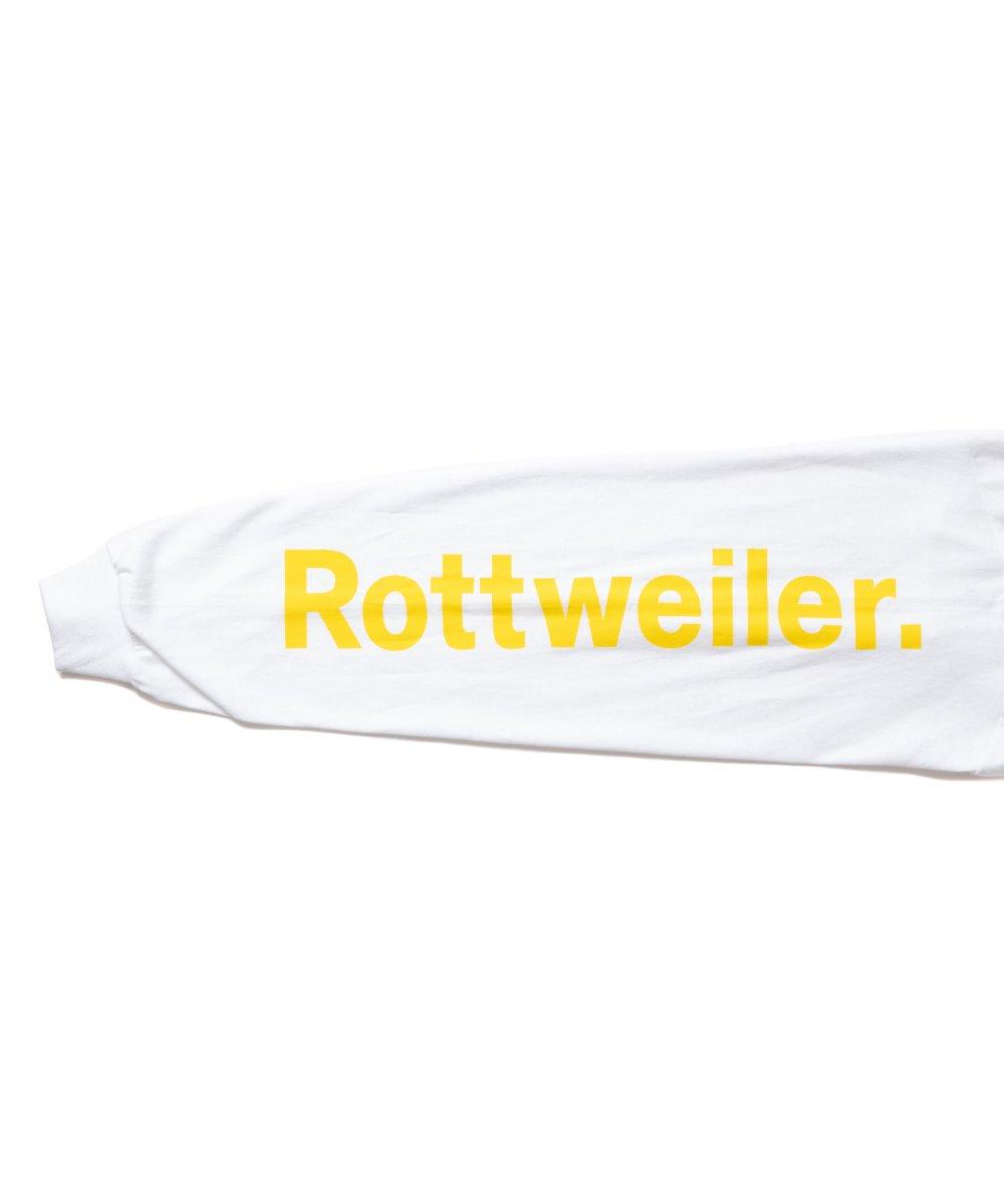 【8月下旬入荷予定】ROTTWEILER ロットワイラー / ロングTシャツ FLOWER LS TEE 【WHITE】