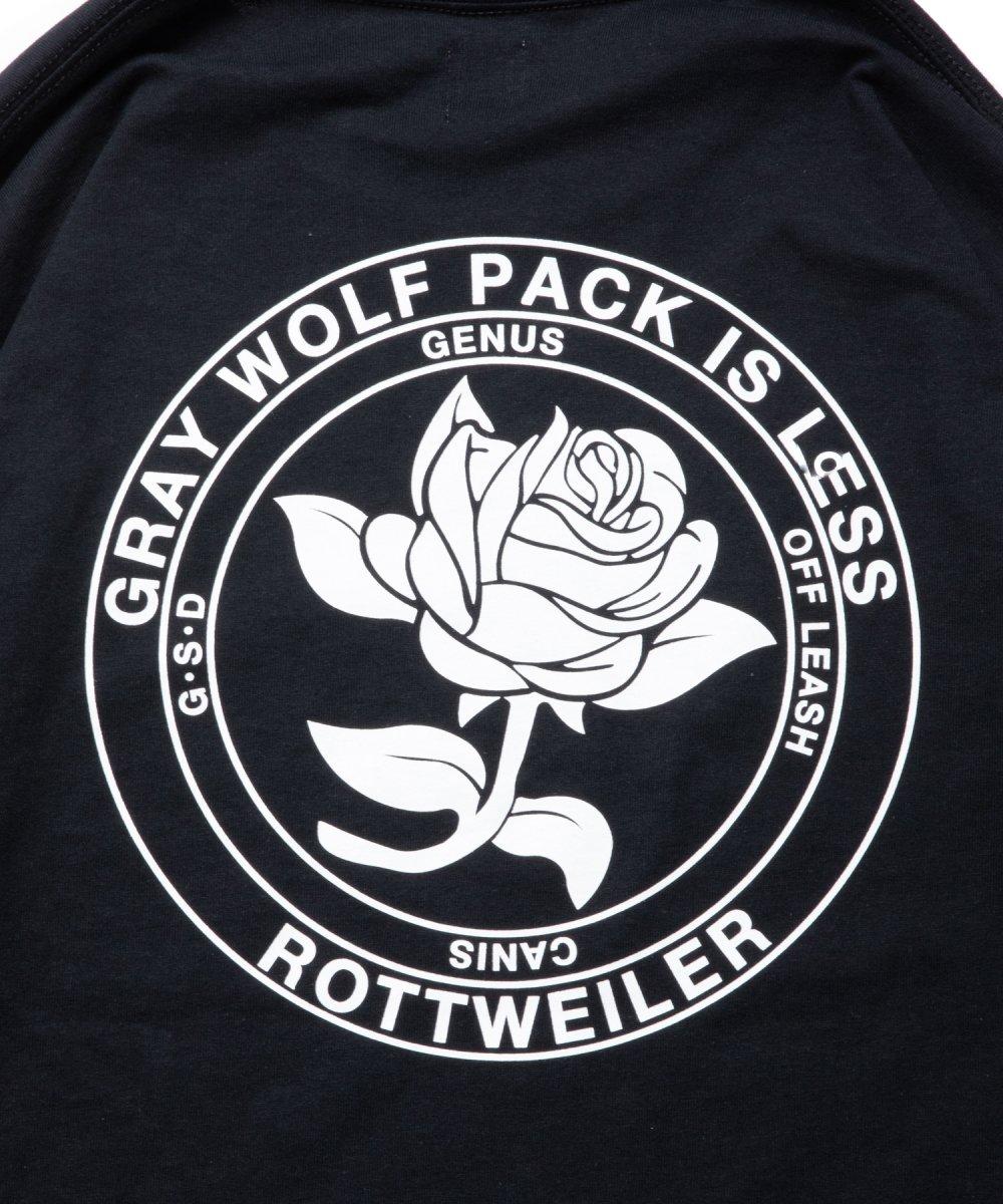 【8月下旬入荷予定】ROTTWEILER ロットワイラー / ロングTシャツ ROSE LS TEE 【BLACK】