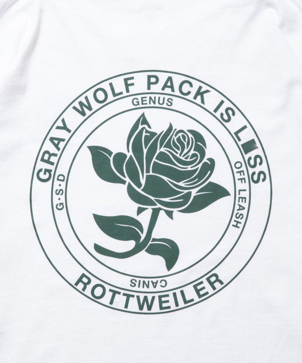 【8月下旬入荷予定】ROTTWEILER ロットワイラー / ロングTシャツ ROSE LS TEE 【WHITE】