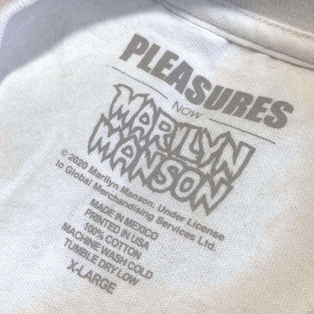 <img class='new_mark_img1' src='https://img.shop-pro.jp/img/new/icons3.gif' style='border:none;display:inline;margin:0px;padding:0px;width:auto;' />PLEASURES × Marilyn Manson /プレジャーズ × マリリン・マンソン / Tシャツ SUFFER T-SHIRTS 【WHITE】