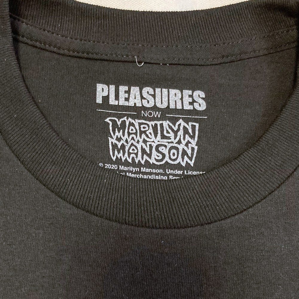<img class='new_mark_img1' src='https://img.shop-pro.jp/img/new/icons3.gif' style='border:none;display:inline;margin:0px;padding:0px;width:auto;' />PLEASURES × Marilyn Manson /プレジャーズ × マリリン・マンソン / Tシャツ SUFFER T-SHIRTS 【BLACK】