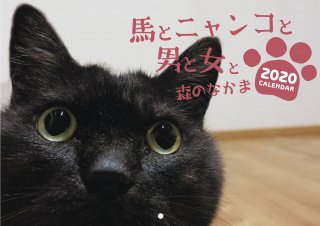 <img class='new_mark_img1' src='//img.shop-pro.jp/img/new/icons16.gif' style='border:none;display:inline;margin:0px;padding:0px;width:auto;' />2020馬ニャンカレンダー 送料無料