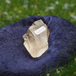 LS116  Lemurian Crystalina (Golden, Roots, Keys) 88g 65mm