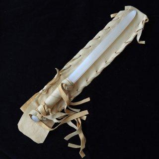 SW068 セレナイトワンド(中)キャメル革袋  細長 370mm