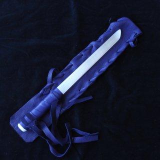 SW072 セレナイトワンド(中)パープル革袋  355mm