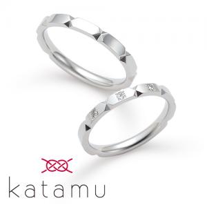 カタム 結婚指輪(2本セット)折り紙 おりがみ RF
