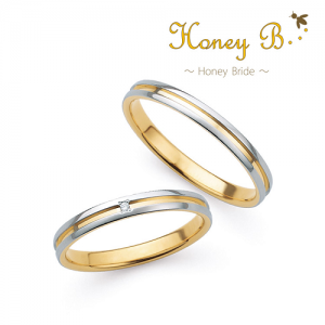 ハニーブライド 結婚指輪(2本セット)ヒマワリ RF