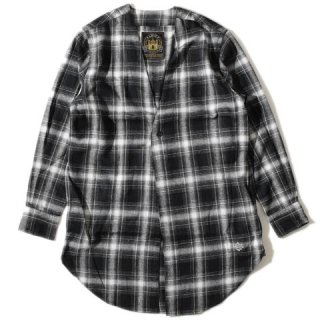 <img class='new_mark_img1' src='//img.shop-pro.jp/img/new/icons15.gif' style='border:none;display:inline;margin:0px;padding:0px;width:auto;' />ALDIES Collarless Nel Long Shirt BLACK