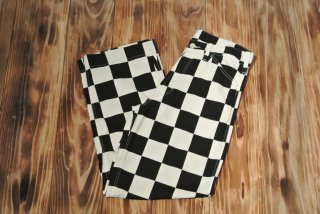 WEIRDO CHECKER-PANTS(BLACK)