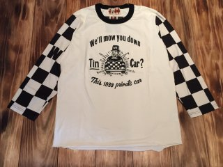 WEIRDO 7分 tee  CHECKER-PRIVATE CAR(BLACK)
