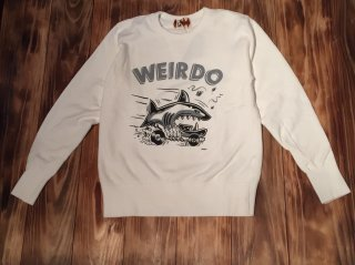 WEIRDO ZOWEIRDOS-SWEAT B(WHITE)