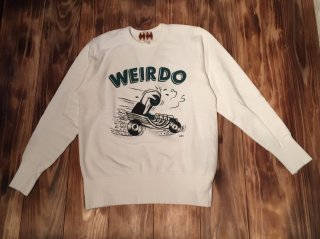 WEIRDO ZOWEIRDOS-SWEAT D(WHITE)