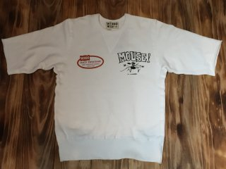 MOUSE HOTROD S/S SWEAT(WHITE)