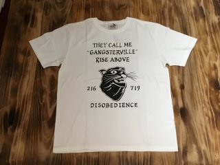 GANGSTERVILLE RISE ABOVE-S/S T-SHIRTS(WHITE)
