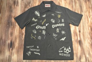 WEIRDO S/S shirt   CREEPY(BLACK)