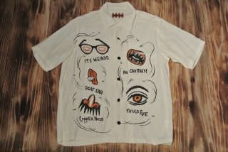 WEIRDO S/S shirt  IT`S WEIRDO(IVORY)