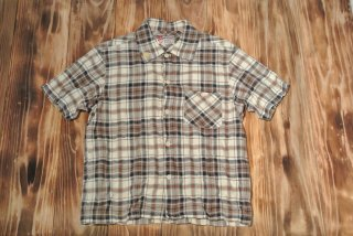 WEIRDO  S/S shirt CHECK OP (BROWN)