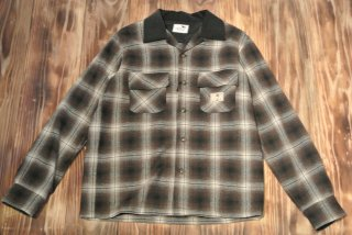GANGSTERVILLE L/S shirt  ERIK WEISZ(BROWN)
