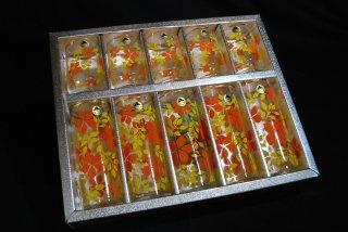貴重なデッドストック品 昭和レトロなガラスコップセット TOYO FUJIガラス