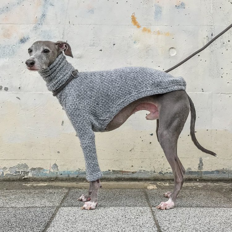 HAND-KNITTED STYLE FLUFFY SWEATERS [LIGHT GRAY]
