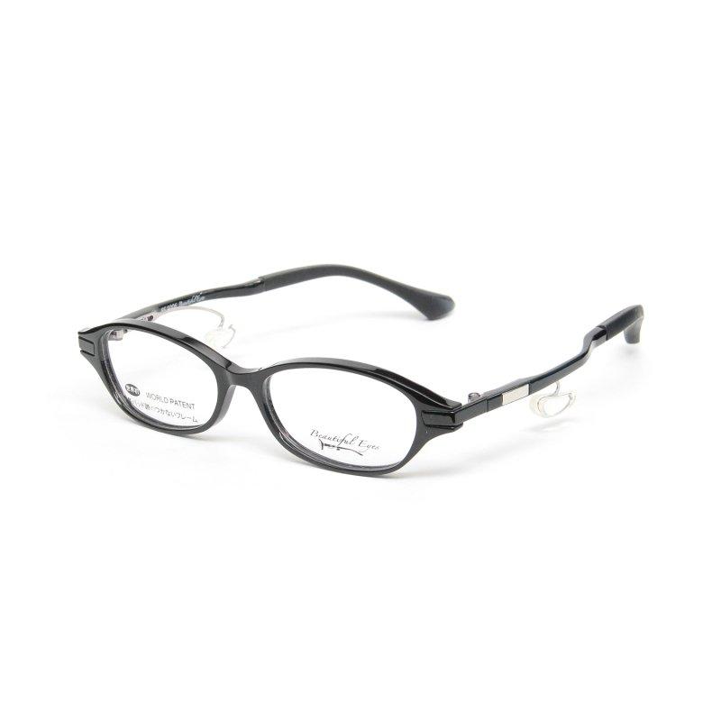 オーバルSタイプ度付きメガネ(BLACK)