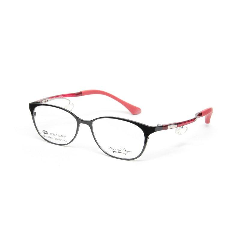 オーバルMタイプ度付きメガネ(BLACK)