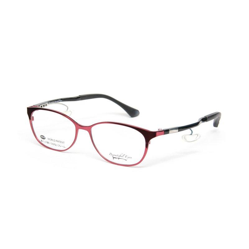 オーバルMタイプ度付きメガネ(RED)
