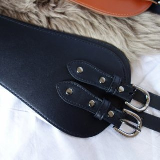 Leather waist belt (BLACK)