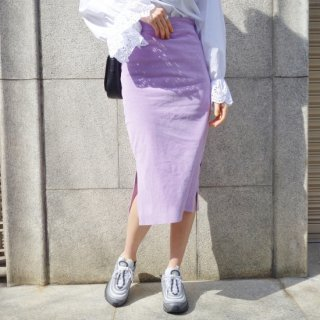 Corduroy coloer skirt (PINK)