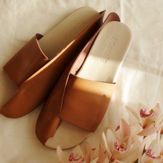 [予約] Leather sandal (BROWN)