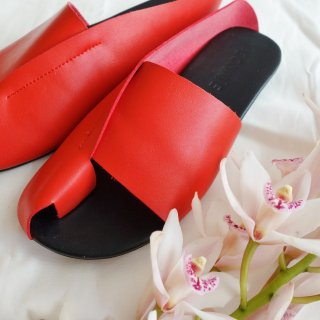 [即納] Leather sandal (RED)